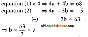 AP SSC 10th Class Maths Solutions Chapter 4 Pair of Linear Equations in Two Variables Optional Exercise 9