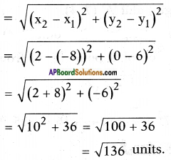 AP SSC 10th Class Maths Solutions Chapter 7 Coordinate Geometry InText Questions 7