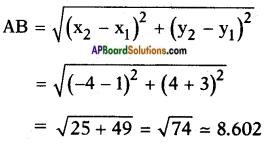 AP SSC 10th Class Maths Solutions Chapter 7 Coordinate Geometry InText Questions 9