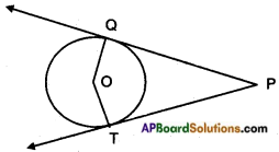 AP SSC 10th Class Maths Solutions Chapter 9 Tangents and Secants to a Circle Optional Exercise 1