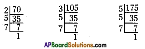 AP Board 6th Class Maths Solutions Chapter 3 HCF and LCM Unit Exercise 6