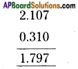 AP Board 6th Class Maths Solutions Chapter 5 Fractions and Decimals Ex 5.5 5