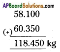 AP Board 6th Class Maths Solutions Chapter 5 Fractions and Decimals Ex 5.5 6