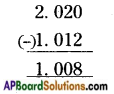AP Board 6th Class Maths Solutions Chapter 5 Fractions and Decimals Ex 5.5 9