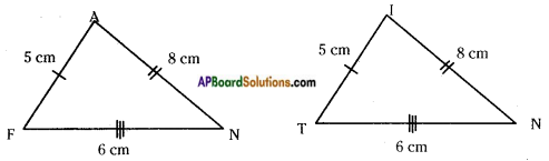 AP Board 7th Class Maths Notes Chapter 8 Congruency of Triangles 2