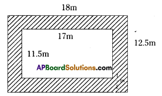 AP Board 7th Class Maths Solutions Chapter 13 Area and Perimeter Ex 6 2