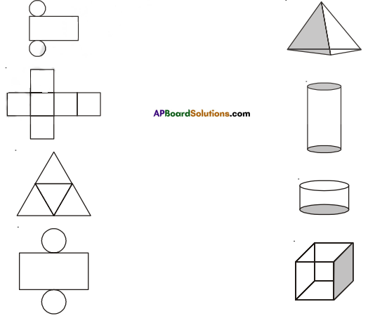 AP Board 7th Class Maths Solutions Chapter 14 Understanding 3D and 2D Shapes Ex 2 1
