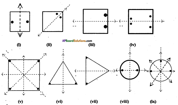 AP Board 7th Class Maths Solutions Chapter 15 Symmetry Ex 2 3