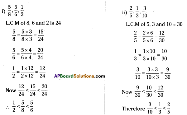 AP Board 7th Class Maths Solutions Chapter 2 Fractions, Decimals and Rational Numbers Ex 1 2