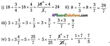 AP Board 7th Class Maths Solutions Chapter 2 Fractions, Decimals and Rational Numbers Ex 4 1