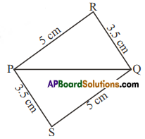 AP Board 7th Class Maths Solutions Chapter 8 Congruency of Triangles Ex 1 3