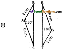 AP Board 7th Class Maths Solutions Chapter 8 Congruency of Triangles Ex 2 3