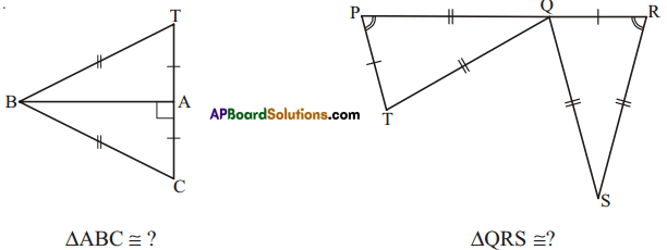 AP Board 7th Class Maths Solutions Chapter 8 Congruency of Triangles Ex 4 9