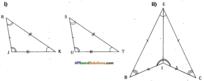 AP Board 7th Class Maths Solutions Chapter 8 Congruency of Triangles InText Questions 5