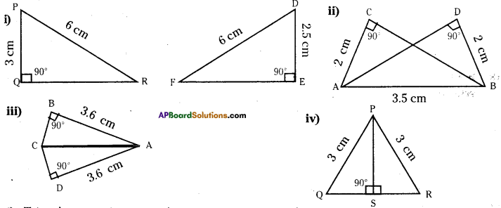 AP Board 7th Class Maths Solutions Chapter 8 Congruency of Triangles InText Questions 7