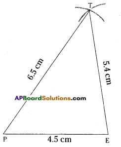 AP Board 7th Class Maths Solutions Chapter 9 Construction of Triangles InText Questions 4