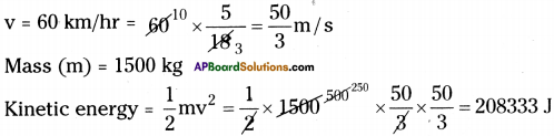 AP Board 9th Class Physical Science Important Questions Chapter 10 Work and Energy 5