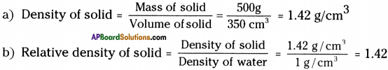 AP Board 9th Class Physical Science Important Questions Chapter 9 Floating Bodies 12