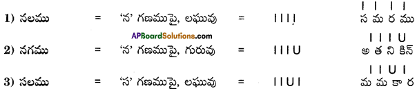 AP Board 9th Class Telugu Grammar Chandassu ఛందస్సు 17