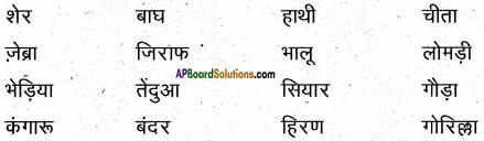 AP Board 6th Class Hindi Solutions सन्नद्धता कार्यक्रम Chapter 16 शेर और चूहा 2