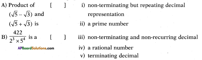 AP 10th Class Maths Bits Chapter 1 Real Numbers with Answers (8)