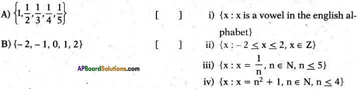 AP 10th Class Maths Bits Chapter 2 Sets Bits 13