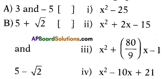 AP 10th Class Maths Bits Chapter 3 Polynomials Bits 18