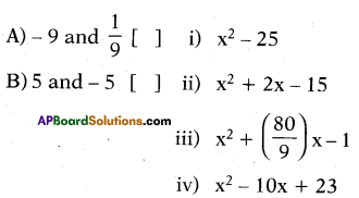 AP 10th Class Maths Bits Chapter 3 Polynomials Bits 19