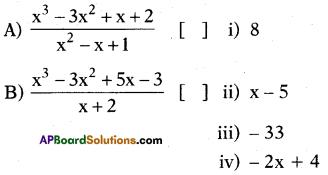 AP 10th Class Maths Bits Chapter 3 Polynomials Bits 20