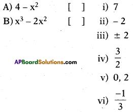 AP 10th Class Maths Bits Chapter 3 Polynomials Bits 23