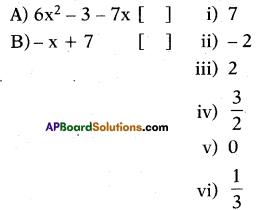 AP 10th Class Maths Bits Chapter 3 Polynomials Bits 24