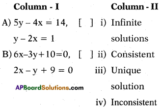 AP 10th Class Maths Bits Chapter 4 Pair of Linear Equations in Two Variables Bits 3