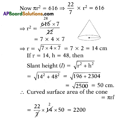AP 10th Class Maths Important Questions Chapter 10 Mensuration 4