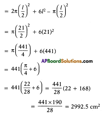 AP 10th Class Maths Important Questions Chapter 10 Mensuration 6
