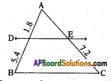 AP 10th Class Maths Important Questions Chapter 8 Similar Triangles Important Questions 13