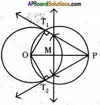 AP 10th Class Maths Important Questions Chapter 9 Tangents and Secants to a Circle 11