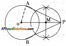 AP 10th Class Maths Important Questions Chapter 9 Tangents and Secants to a Circle 13