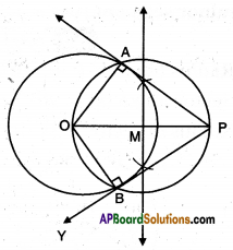 AP 10th Class Maths Important Questions Chapter 9 Tangents and Secants to a Circle 14