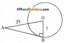 AP 10th Class Maths Important Questions Chapter 9 Tangents and Secants to a Circle 2