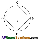AP 9th Class Maths Bits Chapter 12 Circles with Answers 1