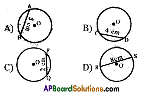 AP 9th Class Maths Bits Chapter 12 Circles with Answers 18