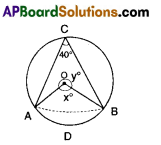 AP 9th Class Maths Bits Chapter 12 Circles with Answers 3