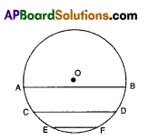 AP 9th Class Maths Bits Chapter 12 Circles with Answers 4