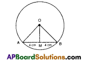 AP 9th Class Maths Bits Chapter 12 Circles with Answers 7