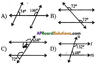 AP 9th Class Maths Bits Chapter 4 Lines and Angles 28
