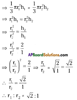 AP 9th Class Maths Important Questions Chapter 10 Surface Areas and Volumes 1