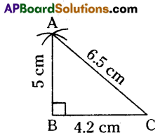 AP 9th Class Maths Important Questions Chapter 13 Geometrical Constructions 1